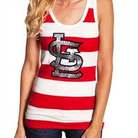 St. Louis Cardinals Striped Tank Top | SportyThreads.com