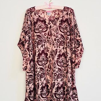 Brocade Floral Floaty Tunic
