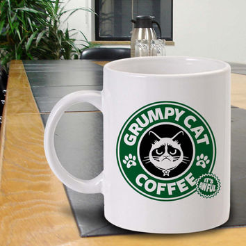 Grumpy cat  Coffee personalised Mug , Ceramic , Cute Mug , Coffee