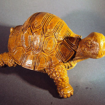 Priced Reduced From Twenty Four. Stone Turtle, Adorable, Rubber Bottom, Hand Made In Big Bear, CA