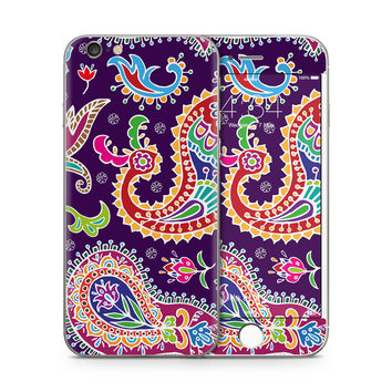 Multicolored Purple Paisley Background Skin for the Apple iPhone
