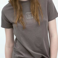 Rosybrown Printed T-shirt