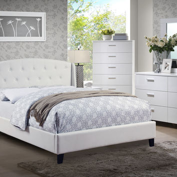 Poundex 5pc Bedroom Set White