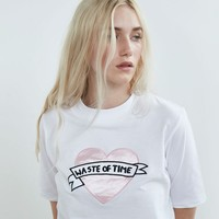 Lazy Oaf Waste of Time T-shirt - Clothing - NEW IN - Womens