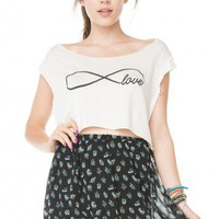 Brandy ♥ Melville |  Angelina Infinity Love Tank - Graphic Tops - Clothing