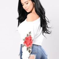 Melody Of Love Top - White