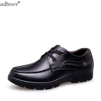 Man business office shoes true leather inner plus large size