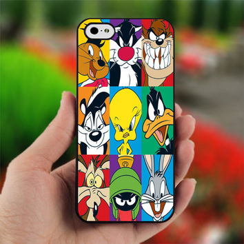 Looney Tunes Characters - Design for iPhone 5 Black Case