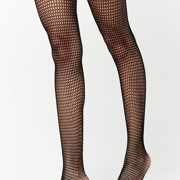 Circle Fishnet Tights