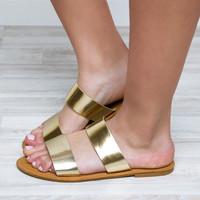 Believe Me Sandals - Gold