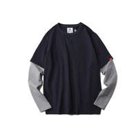Long Sleeve Summer Round-neck Casual T-shirts [9790794435]