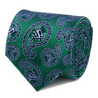 Superman Green Paisley Mens Tie