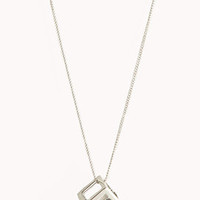 Cutout Cube Necklace