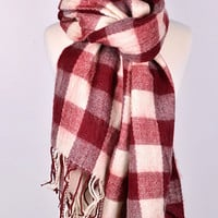 Crimson Tide Plaid Scarf