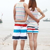 couple beach surf board summer swim sports shorts for women men shorts pants X32