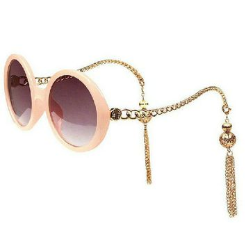 New round elegant ladies sunglasses fringed sunglasses