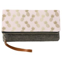Gold Pineapple Pattern Clutch