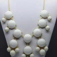 Bubble Statement Necklace - Ivory