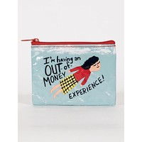 I'm Having An Out of Money Experience Coin Purse with Flying Girl