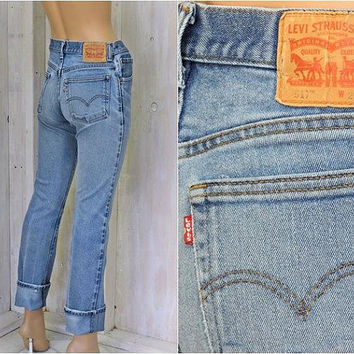 26abf79d3f6 Vintage Levis 517 jeans   29 X 34 size 5   6   med high waisted