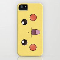 Pikachu - Minimal Pokemon Poster iPhone & iPod Case by Jorden Tually Art