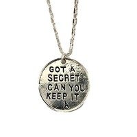 "Pretty Little Liars "" GOT A SECRET CAN YOU KEEP IT "" A Pendant Necklace w/ 20"" Chain"