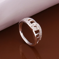Square Hollow Silver Ring