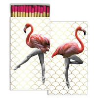 Can - Can Flamingo Gold Foil Decorative Matches