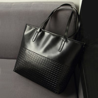 Ladies Solid Casual Tote Handbag Purse