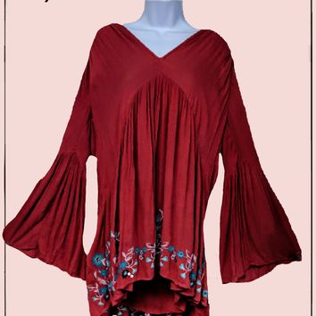 Free People flowy tunic top - beautiful!