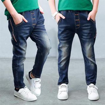 Children denim pants big boys slim jeans Boys Jeans, Children spring and autumn jeans, for age 3 4 5 6 7 8 9 10 11 12 13 14 year