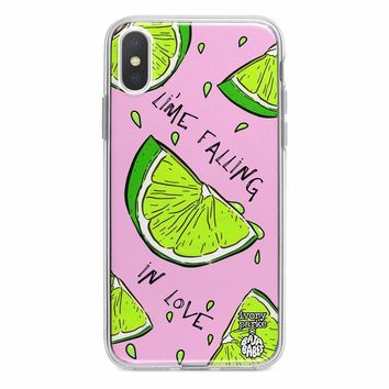 Lime Falling In Love iPhone Case