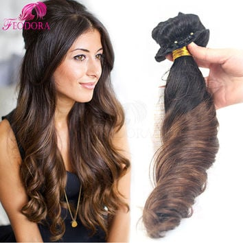 Ombre Clip In Human Hair Extensions Sale Clip In Hair Extensions Brazilian Virgin Human Clip In Hair For Black Women 10pcs 7pcs