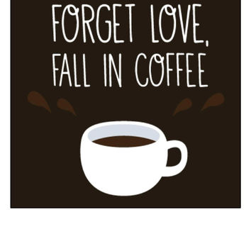 Fall in Coffee Cross Stitch Pattern, Coffee Quotes, Coffee Pattern, Home Decor