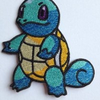 "Pokemon Squirtle Iron-on Patch (3"" / 7.5cm) Embroidered Badge - Free Shipping!"