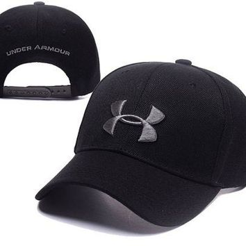 DCCKUNT Black Under Armour Embroidered Outdoor Baseball Cap