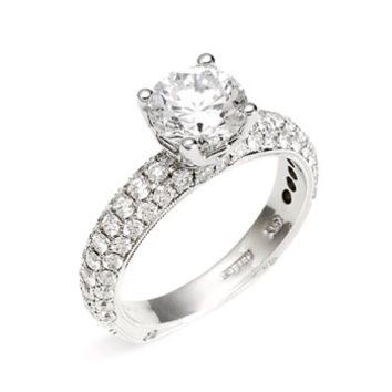 Women's Jack Kelege 'Romance' Pave Diamond Engagement Ring Setting