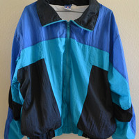 Retro Jacket Blue Oversized 90's Vintage XL