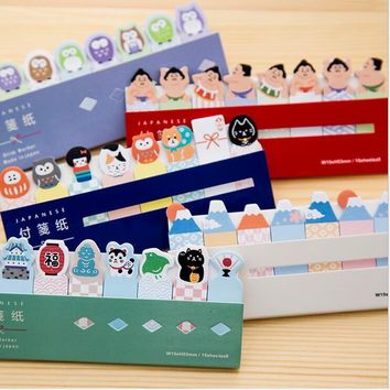 2pcs/Lot kawaii Japanese style memo pad Post it sticky notes marker Sushi stickers Stationery Office accessories School supplies