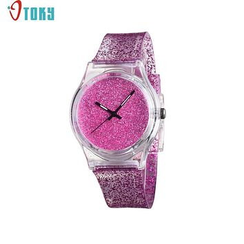 Watch OTOKY Willby Unisex Glitter Silicone Gel Wrist Watch For Women Girls Students Gift Clock Drop Shipping 170119