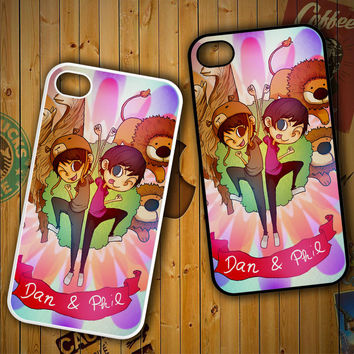 Dan and Phil vector Z1035 LG G2 G3, Nexus 4 5, Xperia Z2, iPhone 4S 5S 5C 6 6 Plus, iPod 4 5 Case