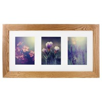 "Gallery Solutions Multiple Image Frame - Natural (5X7"")"
