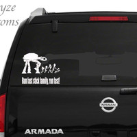 Space Wars Stick Family/Run Fast Stick Family, Run Fast! / Car/Computer vinyl decal