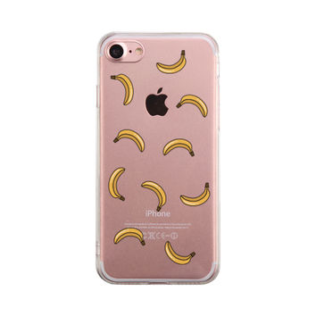 Banana Pattern Phone Case Cute Clear Phonecase