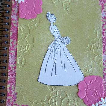 Wedding Planner Book Spiral Wedding planning journal notebook Bridal Shower Thank you Notebook Color Yourself Notebook