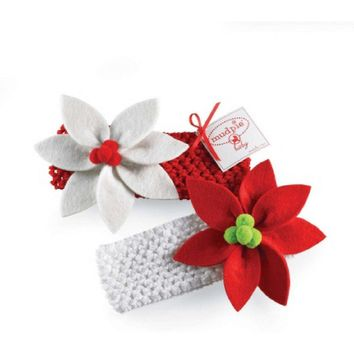 Mudpie-Poinsettia Headband