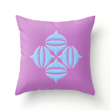Radiant Orchid and Placid Blue Celtic Design pillow cover home decor Spring decor sofa pillows colorful colourful spring decor