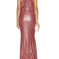 Badgley Mischka Sequin-embellished mesh gown – 50% at THE OUTNET.COM