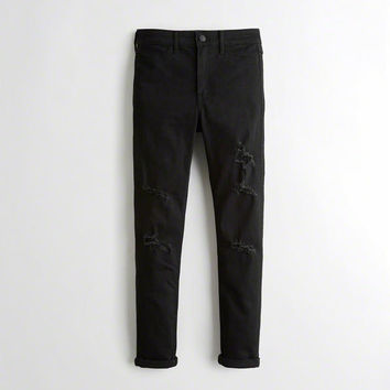 Girls Advanced Stretch High-Rise Crop Jean Leggings | Girls New Arrivals | HollisterCo.com