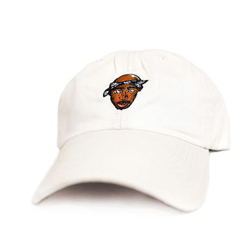 2Pac Dad Hat In White